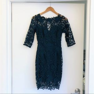 Beautiful Forest Green Lace Dress